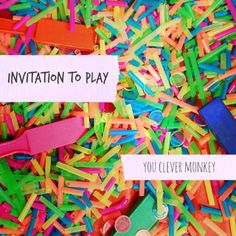 Invitation to play with straws, magnets and colours | you clever monkey