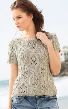 Summer Knitting, Lace Knitting, Crochet Woman, Knit Crochet, Knit Fashion, Knitting Designs, Cardigans For Women, Knitting Patterns, Short Sleeve Dresses
