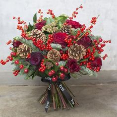Beautiful new Christmas collection of bouquets from McQueens | Flowerona #beautifulflowersbouquet