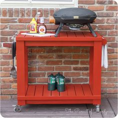 How to build a diy grilling cart the home depot wood projects modified simple rolling bar cart do it yourself home projects from ana white solutioingenieria Images