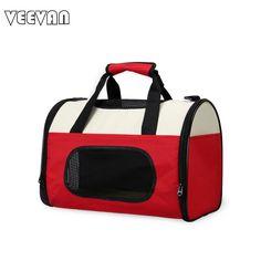 VEEVANV 2017 New Luxury Designer Dog Carrier Tote Handbags Vintage High Quality 600D/Pvc Folding Travel Bags Pet Shoulder Bags