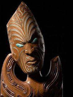 Fayne Robinson? Tiki Art, Tiki Tiki, Maori Face Tattoo, Maori Patterns, Tiki Statues, Polynesian Art, Maori Designs, Vintage Tiki, Maori Art
