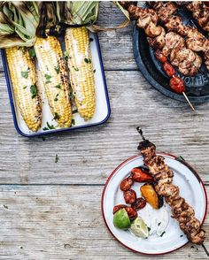 @localhaven's having the cookout of our dreams this weekendcorn and kebabs and we can only imagine what dessert is. Show us how you're picnicking this week by tagging your photos #f52grams and we'll regram our favorites! by food52