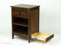 Qline Secret Agent Nightstand | QLine Design Pvc Pipe Projects, Wood Projects, Welding Projects, Secret Compartment Furniture, Wood Router, Wood Lathe, Cnc Router, Secret Hiding Places, Hidden Spaces