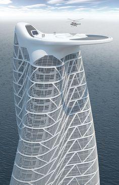 Strata Tower Condominium Al Raha Beach, Abu Dhabi, UAE. Asymptote Architecture