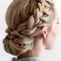Prom Braided Updos for Long Hair - Frisure .- Prom geflochtene Hochsteckfrisuren für lange Haare – Frisuren 2019 Prom Braided Updos for Long Hair 42 Braided Prom Hair Updos to End Your Fabulous Look Prom Hair … - Braided Prom Hair, Wedding Hairstyles For Long Hair, Box Braids Hairstyles, Straight Hairstyles, Prom Hairstyles, Braided Updo, Hair Wedding, Bridesmaids Hairstyles, Wedding Dresses