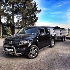 Wolfsladung #amarok #vw #volkswagen #pickup #transporting #trailer #farm