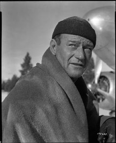 ISLAND IN THE SKY - John Wayne & his crew crash land in the frozen wild & try to hang on until rescued - Directed by William Wellman - Warner Bros. - Movie Still. Tyrone Power, Robert Duvall, Hollywood Men, Hollywood Icons, Classic Hollywood, John Wayne Wife, Harry Carey, Jock, John Payne