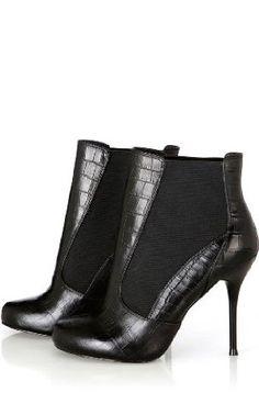 Karen Millen Croc Ankle Boot : Boots