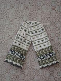 Latvian mittens - inspiration only, no pattern