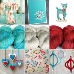 Mood Board Monday - An aqua holiday party by Tanis Fiber Arts All Things Christmas, Christmas Crafts, Tanis Fiber Arts, Sock Yarn, Color Theory, Yarn Colors, Color Schemes, Colour Combinations, Art Blog