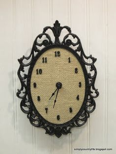 Upcycled Ornate Frame into a Unique Clock (tutorial)