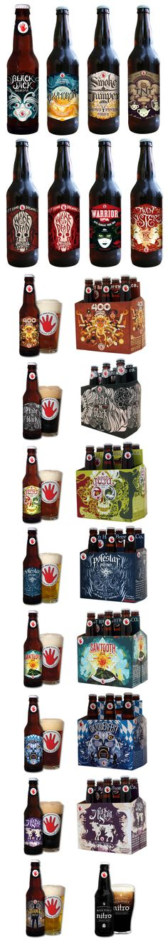Left Hand Brewing Company's labels and packaging