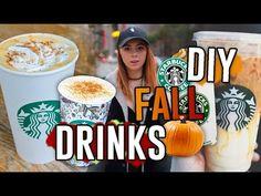 DIY Starbucks Drink Recipes for the Fall!! Pumpkin Spice Frap, Macchiato, & MORE // Jill Cimorelli - YouTube
