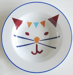 Cat plate 2 by Ninainvorm on Etsy, Cat Boarding, Christmas Cats, Cat Stuff, Crazy Cats, Cat Lady, Decoupage, Art Drawings, Tea Cups, Pottery