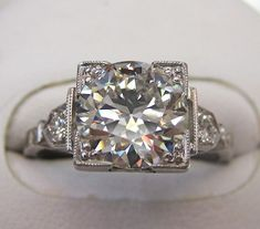 2.6ct Transitional Cut Diamond (Early Round Brilliant)  in Antique Ring Is that too much to ask for?! :)
