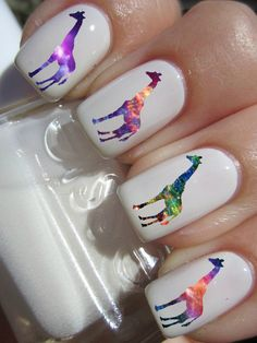Hey, I found this really awesome Etsy listing at http://www.etsy.com/listing/153928366/galaxy-giraffe-nail-decals