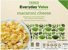 Buy Tesco Everyday Value Macaroni Cheese online in Tesco at mySupermarket Hannah Mills, Macaroni Cheese, Private Label, Food Packaging, Frozen, Meals, Fruit, Cartoons, Meal