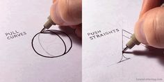 Quick Tip to Draw Straight Lines & Avoid Shaky Hand Lettering http://seanw.es/brhh