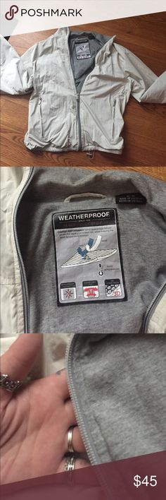 Women's weatherproof jacket. Peach touch project. Like new condition only worn a couple times. Weather proof, pull string, liner, wind proof , inner mesh. Paid 89.50 for it. Weatherproof Jackets & Coats