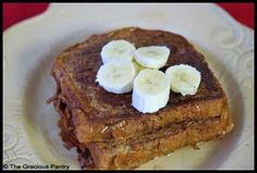 Clean eating french toast.  With egg whites, almond milk, and 45 calorie bread, one piece is probably equal to about 60 cals, if that.