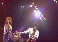 Lou Gramm and Mark Rivera, Foreigner band, 1981 Dortmund Germany