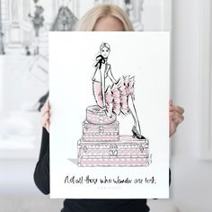 """5,680 Likes, 67 Comments - Megan Hess (@meganhess_official) on Instagram: """"JUST RELEASED!!! My most popular print of all time is my TRAVEL GIRL Illustration. My first 2…"""""""