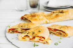 Pizzariull Stromboli med paprika, pepperoni og ost.