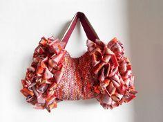 クレヨンカラーの裂き織りバッグ『Miwa』|トートバッグ|SAGANJ|ハンドメイド通販・販売のCreema