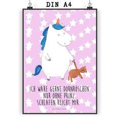 Poster DIN A4 Einhorn Teddy aus Papier 160 Gramm  weiß - Das Original von Mr. & Mrs. Panda.  Jedes wunderschöne Poster aus dem Hause Mr. & Mrs. Panda ist mit Liebe handgezeichnet und entworfen. Wir liefern es sicher und schnell im Format DIN A4 zu dir nach Hause.    Über unser Motiv Einhorn Teddy  Ein Einhorn Edition ist eine ganz besonders liebevolle und einzigartige Kollektion von Mr. & Mrs. Panda. Wie immer bei unseren Produkten sind alle Motive handgezeichnet und werden mit viel Liebe in…