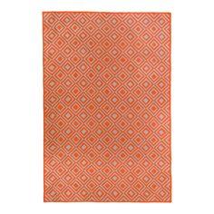 Zaida Diamonds Bright 120x180cm Rug, Orange | ACHICA