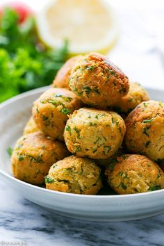 Easy Homemade Falafel - quick to make, perfect for a delicious and nutritious meal. Enjoy on its own, or on pita bread pocket sandwich.