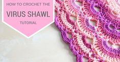 Crochet Virus Shawl Written Pattern ( DOWNLOAD FREE INSTRUCTIONS )