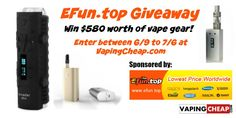 Enter to Win over $580 worth of vape gear at http://VapingCheap.com
