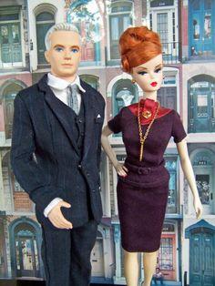 Roger and Joan Mad Men Barbie Dolls!! LOVE