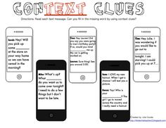 Free! 5 Types of Context Clues Poster...Follow for