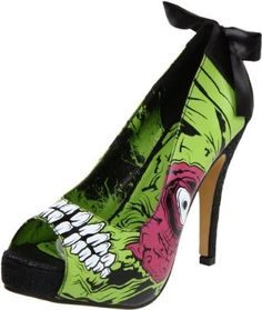 Iron Fist Women's Zombie Stomper Platform Pump.my BFF bought and wore these for Halloween :) Halloween Heels, Halloween Costumes, Halloween Stuff, Halloween Makeup, Iron Fist Heels, Crazy Heels, Vip Fashion Australia, Punk Shoes, Gothic Shoes