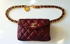 Chanel Waist Pack Fanny Pack Bordeaux Travel Bag