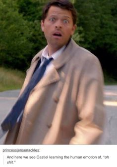 castiel is learning... Misha really does have some of the greatest facial expressions, haha