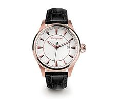 Montegrappa Fortuna Watch, Rose Gold PVD, Silver Dial, Leather Strap https://www.carrywatches.com/product/montegrappa-fortuna-watch-rose-gold-pvd-silver-dial-leather-strap/ Montegrappa Fortuna Watch, Rose Gold PVD, Silver Dial, Leather Strap