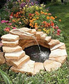 Fontana realizzata con scorza di spessore 8cm in pietra di Trani