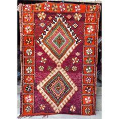 Moroccan Boujaad tribal woollen rug 220 x 154 cm