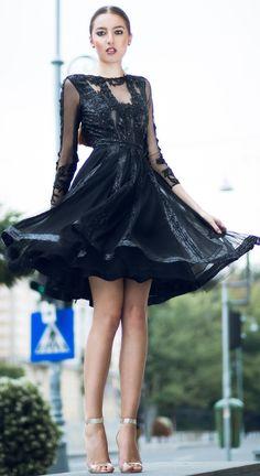 CRISTALLINI #BlackDress #Sequins #CocktailDress #Fashion #Prom