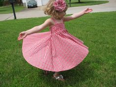 Simple Summer Dress Tutorial - with just a few measurements, this can be made for baby to young child!