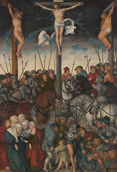 The Crucifixion. Lucas Cranach the Elder; German, 1472 Date: Dimensions: 47 × 32 in. painted surface: 47 × 32 in. Oil on panel. Museum: The Chicago Art Institute Stock Photo: 239879103 - Alamy Wall Art Prints, Fine Art Prints, Poster Prints, Canvas Prints, Renaissance, Lucas Cranach, Art Institute Of Chicago, Canvas Paper, Old Master
