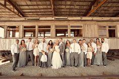 gray bridesmaid dresses?