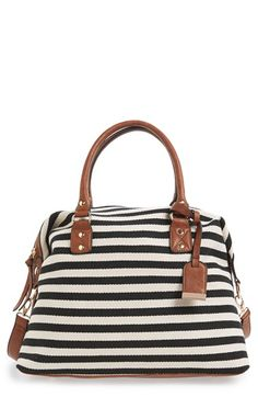 Sole Society 'Leighton' Stripe Duffel Bag available at #Nordstrom