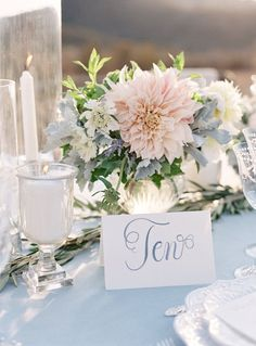 blush wedding centerpices | fabmood.com