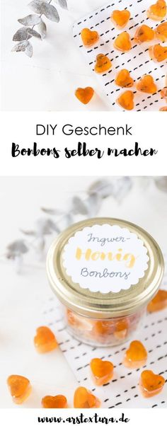 Bonbons selber machen Sweets made with ginger and honey - a great DIY gift for a birthday, Mot Diy Gifts To Sell, Diy Gifts For Kids, Blog Food, Fathers Day Mugs, Xmax, Ginger And Honey, Diy Food, Baby Food Recipes, Diys