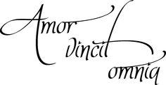 Website for this image    ... Hem » Väggtext » Miniatyr-väggord » Amor vincit omnia    vebidoo.de